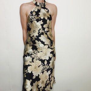 NWT WHBM silk halter dress